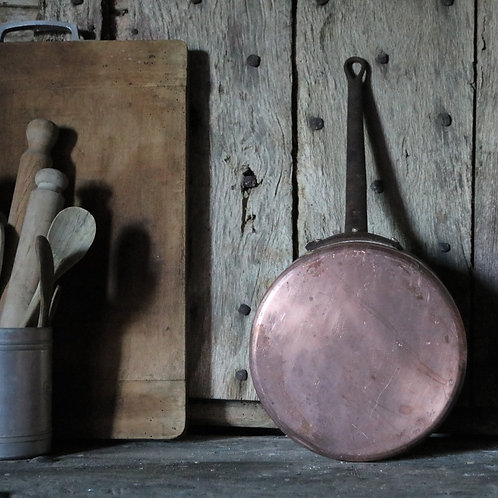 Large French Vintage Copper Saucepan