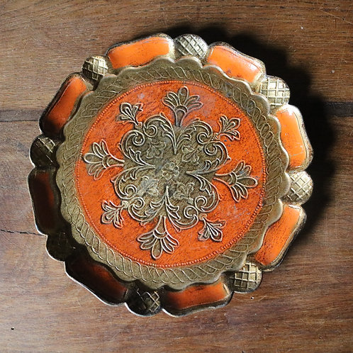 Orange and Gold Florentine Tray