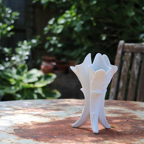 White Bud Vase Portmeirion Parian Ware