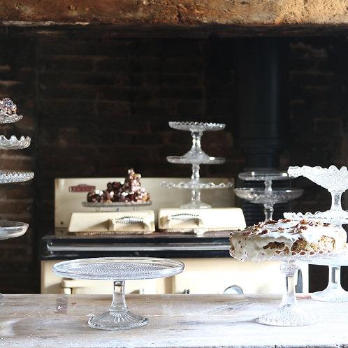 Glass Cake Stand 230mm