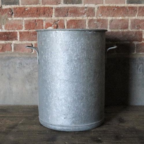 Tall Large Galvanised Bucket Planter
