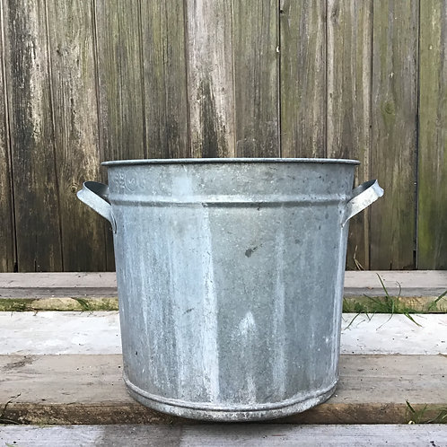 Galvanised Bucket Planter Container Tub
