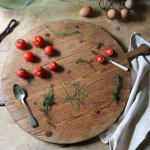 French Rustic Wooden Serving Platter.