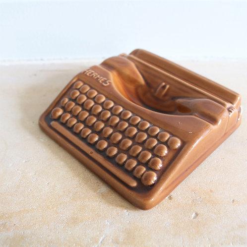 French Mid Century Hermes Typewriter Ashtray
