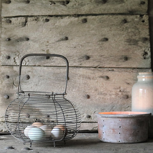 Vintage Wirework Egg Basket