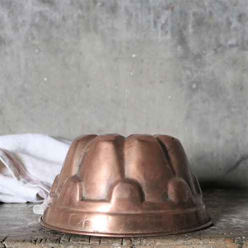 Vintage Copper Bundt Mould Tin