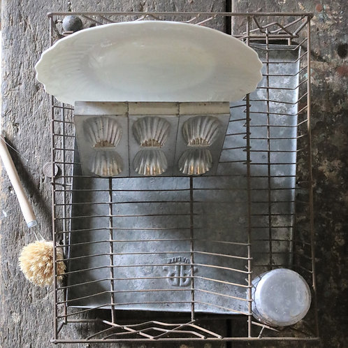 Vintage Metal Washing Up Drainer Tray