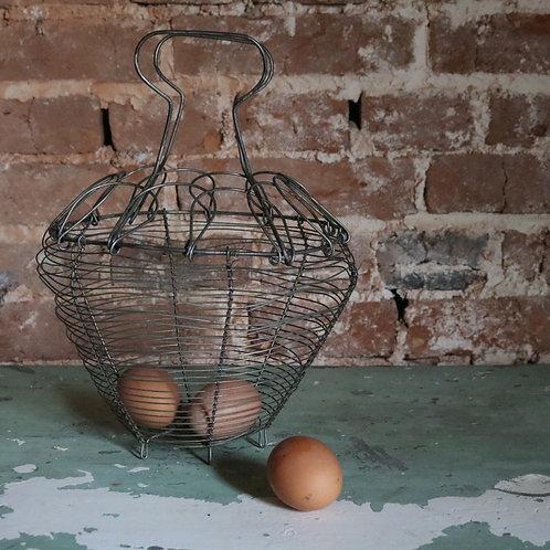 French Vintage Wirework Salad Basket