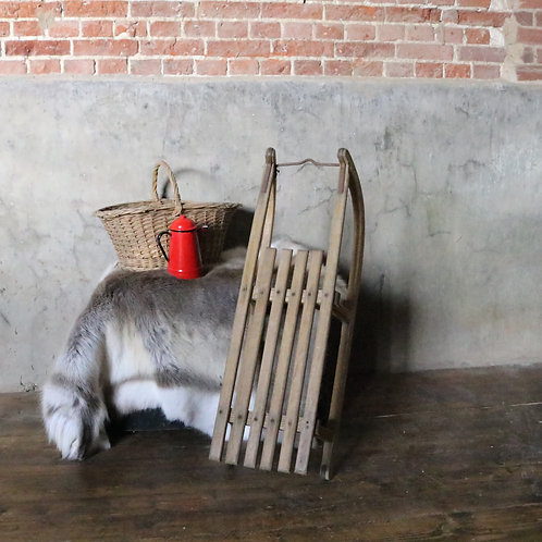 Original Wooden Vintage Sledge