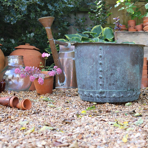Riveted Victorian Copper Garden Planter