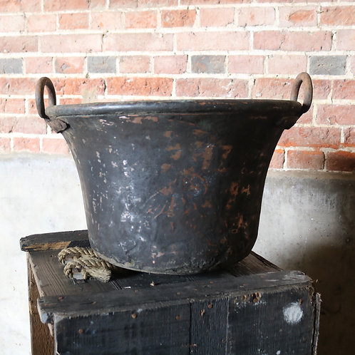 Solid Copper Bell Shaped C19th Pots