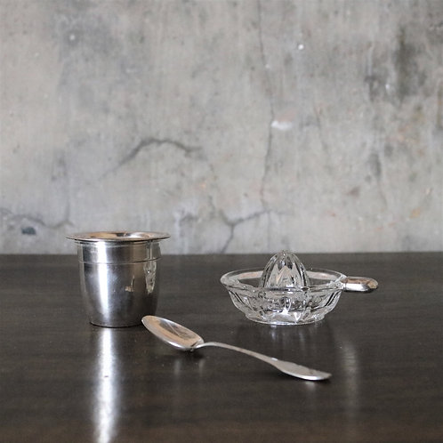 Louis Coignet Solid Silver Cocktail Citus Juicer Set