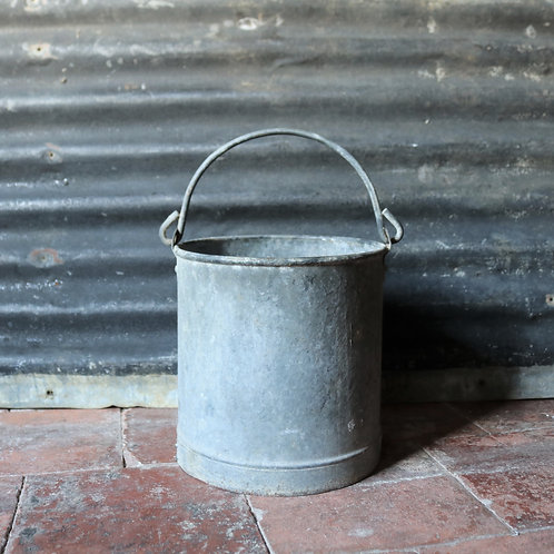 French Vintage Galvanised Painters Bucket