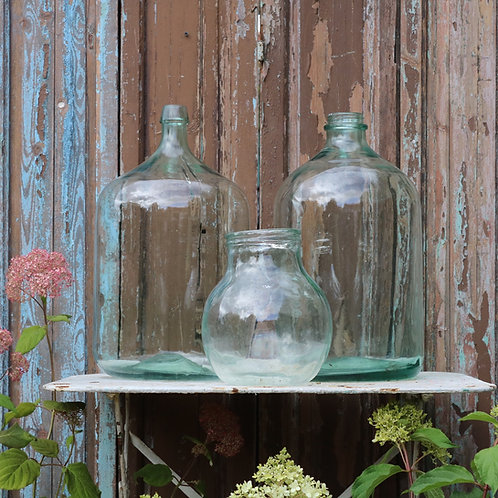 Green Glass Bottle Vases Carboys