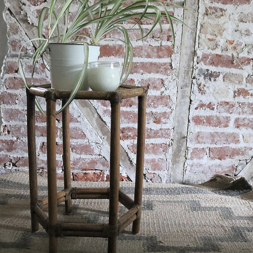 Vintage Retro Rattan Bamboo Cane Side Table