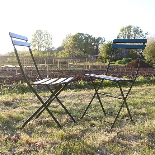 vintage french folding chairs