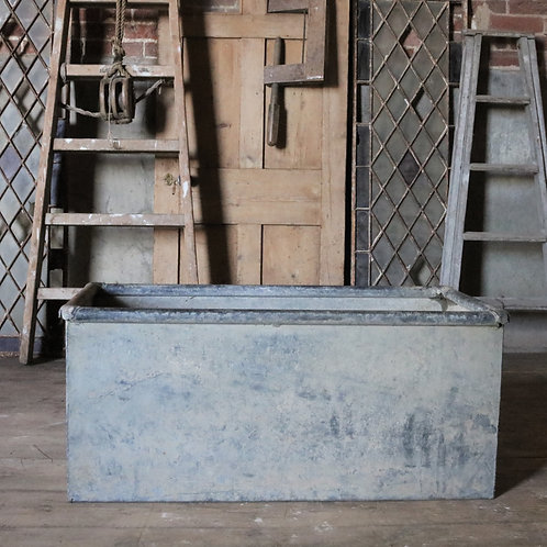 Galvanised Vintage Trough Garden Planter