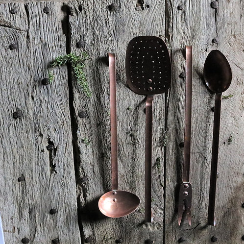 Copper Vintage Kitchen Utensil Sets