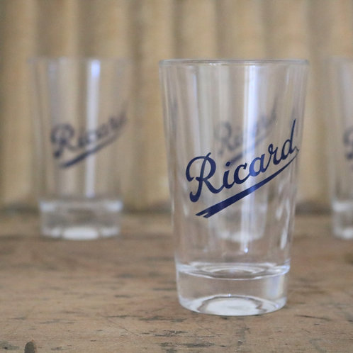Vintage 1950's Ricard Glasses - set of 6