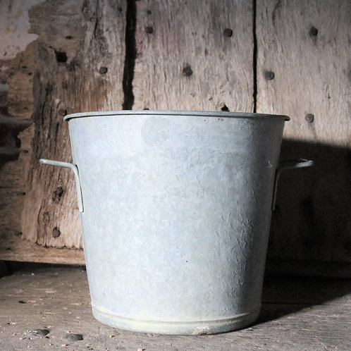 Small Galvanised Bucket Planter