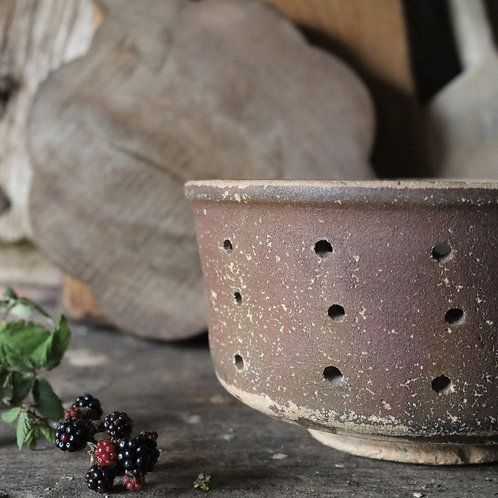 Large French Rustic Vintage Cheese Strainer Mould Faiselle