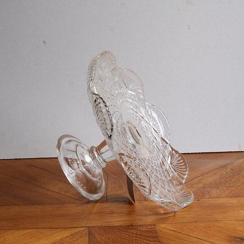 Vintage Pressed Glass Cake Stand - Medium E