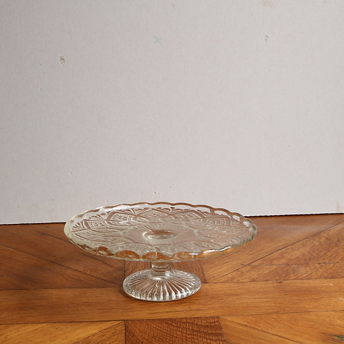 Vintage Pressed Glass Cake Stand - Medium D