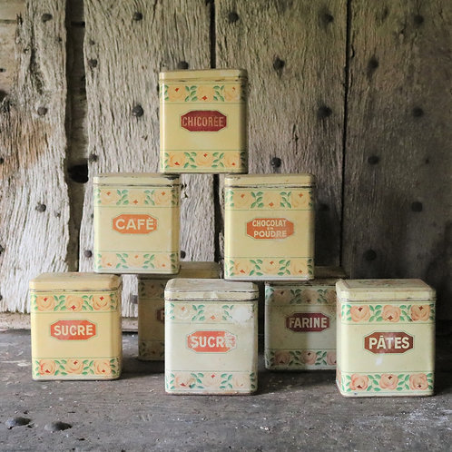 Assorted Vintage French Tins
