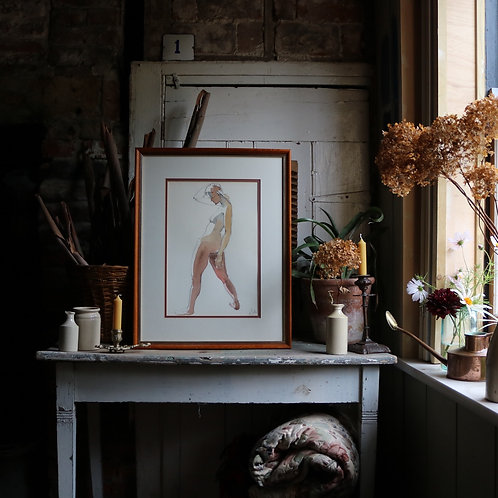 Watercolour Nude Study Female