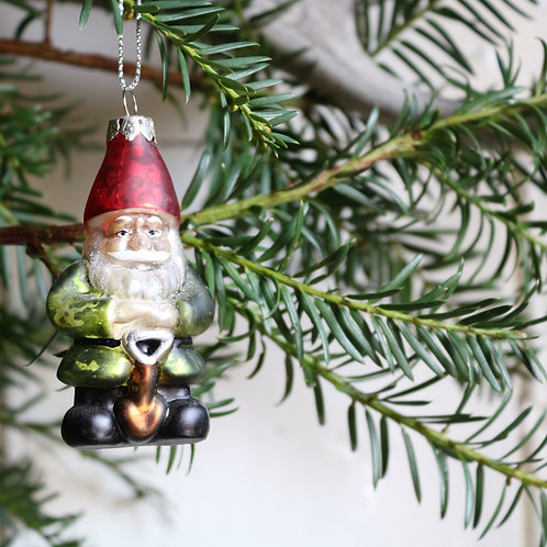 Garden Gnome Decoration Glass