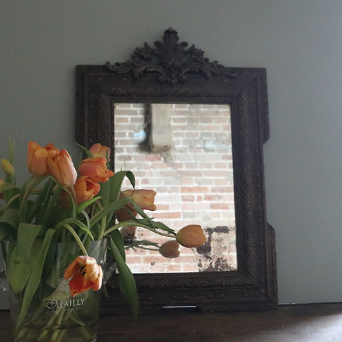 C19th Crested Gesso Ornate Mirror