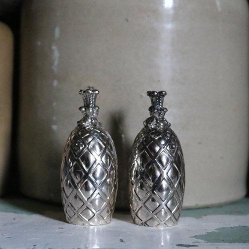 Silver Plated Pineapple Cruet Set