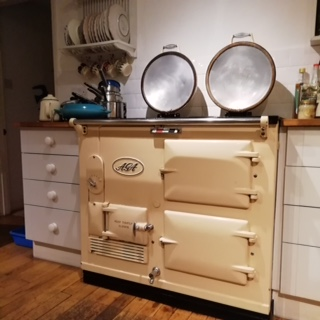1950's Cream Aga cleaning