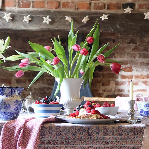 Wedgwood White Vase Urn Planter Shell Handles
