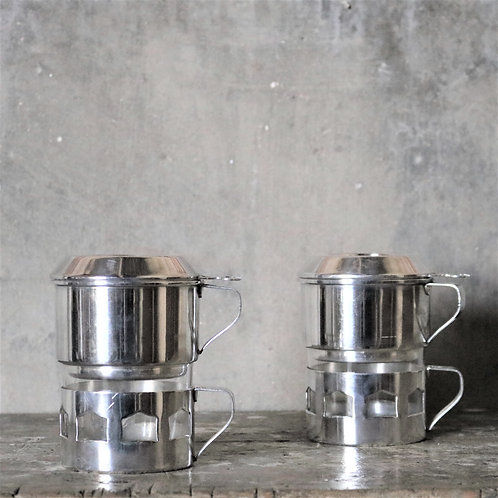 Silver Plated Individual Vintage Coffee Filters