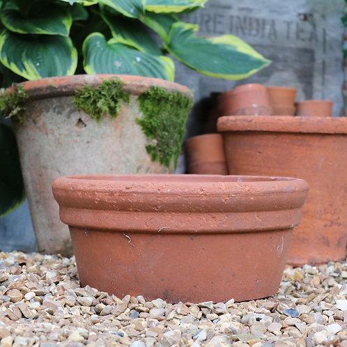 Vintage Terracotta Bulb Pan Pot Planter Large