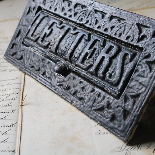 Ornate Cast Iron Salvaged Victorian Letter Box