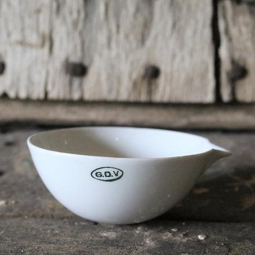 19th Century Antique Science Laboratory Porcelain Evaporating Bowls
