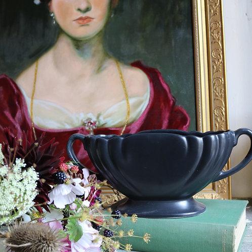 Black Mantle Vase Dartmouth Pottery