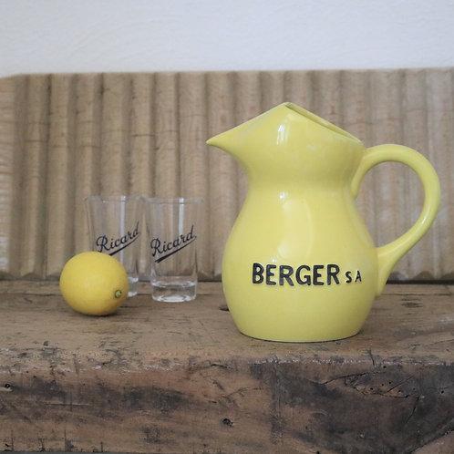 French Vintage Yellow Berger Jug