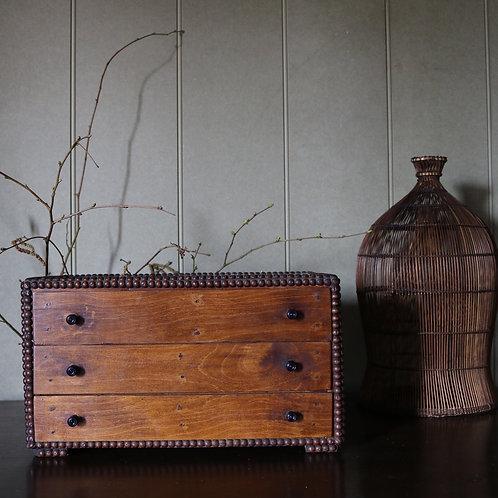 Vintage Egg Collection Specimen Drawers Cabinet Box Chest