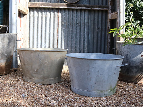 Extra Large Galvanised Planters