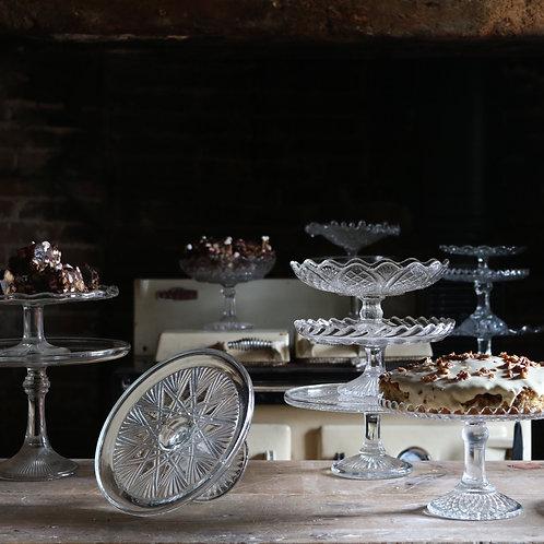 Glass Cake Stand 215mm