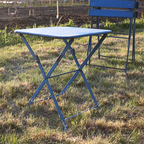 Vintage Garden Furniture Small French Vintage Folding Table Blue