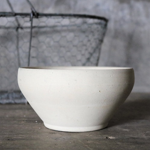 Natural French Vintage Stoneware Bowl