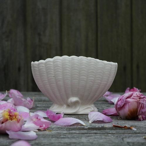 Sylvac Shell White Vase Vintage