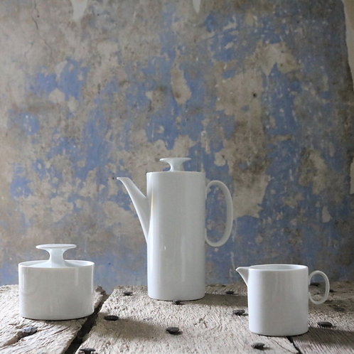 Retro White Porcelain Coffee Set, Thomas Germany