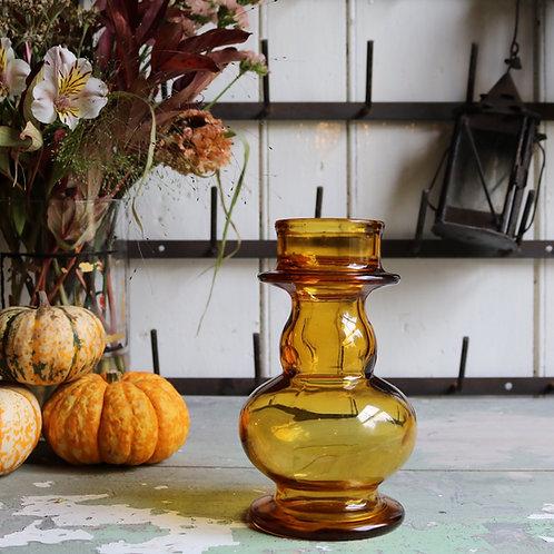 Antique Amber Glass Hyacinth Vase