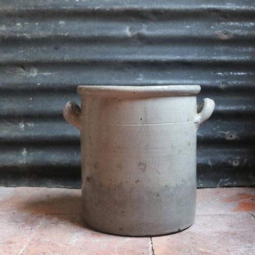 French Vintage Grey Stoneware Gres Pot