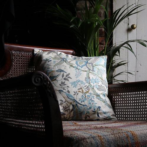 Vintage Floral Fabric Cushion Sanderson Jane Churchill